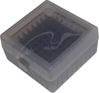 Коробка для патронів MTM кал. 308 Win. Кількість - 100шт. Колір - димчастий