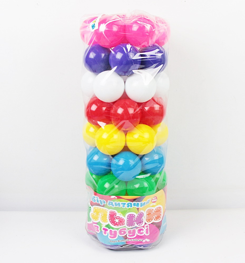 Кульки для сухого басейну 62 шт. в пакеті БАМСИК