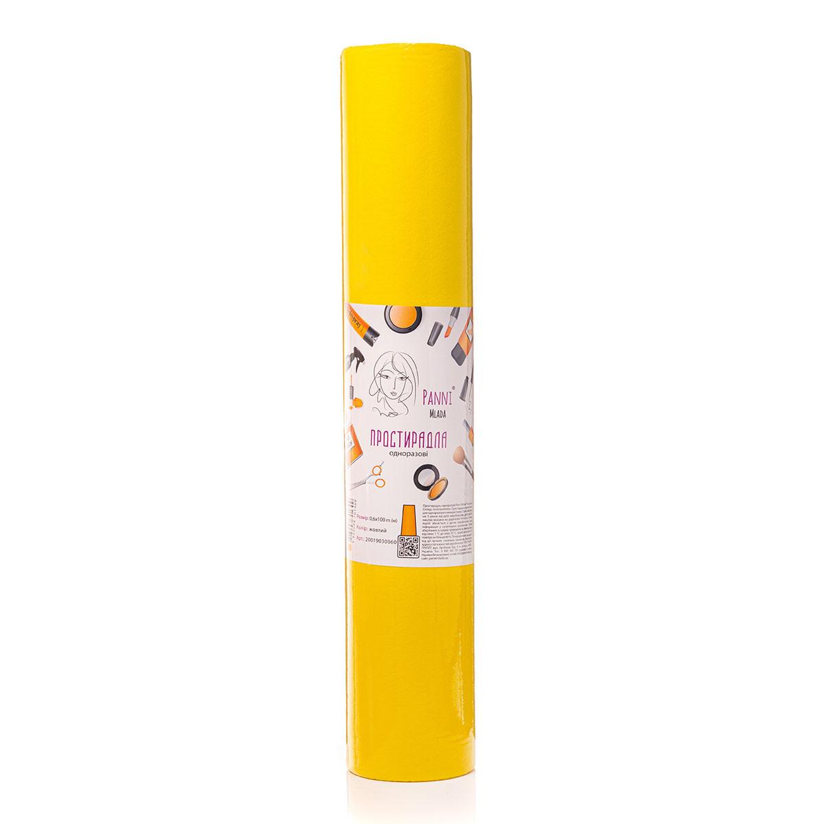 Простирадла Panni Mlada™ 0,8х100 м (1 рул) зі спанбонд Колір: жовтий