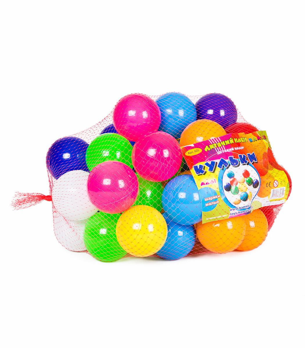 Кульки для сухого басейну 40 шт. в сітці БАМСИК