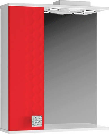 Зеркало для ванной 60 см с встроенным светильником ВанЛанд НЕО Н3 1-60, фото 2