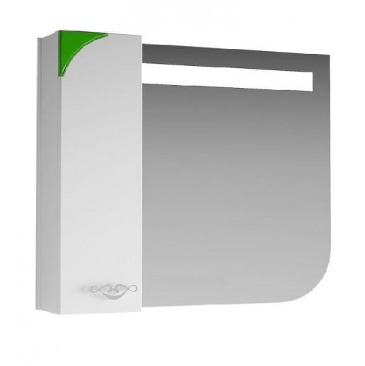 Зеркало для ванной 80 см ВанЛанд ЛАУНЖ Лз 1-80L зеленый