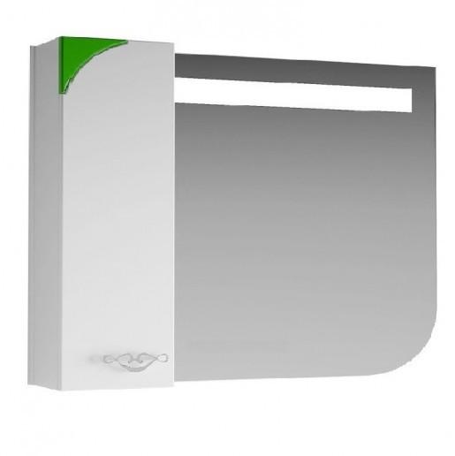 Дзеркало для ванної 90 см з накладними ручками ВанЛанд ЛАУНЖ Лз 1-90L зелений