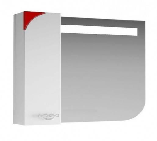 Дзеркало для ванної 90 см для будинку ВанЛанд ЛАУНЖ Лз 1-90L червоний, фото 2