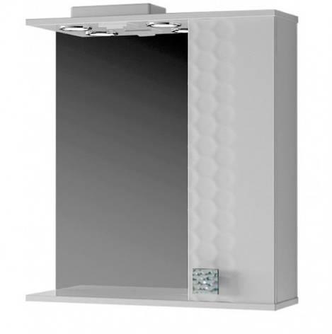 Зеркало с 3Д декором для ванной 70 см ВанЛанд НЕО Нз 1-70 белый, фото 2