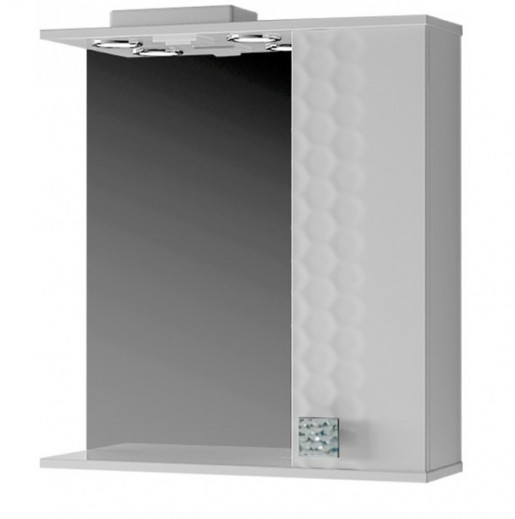 Зеркало с 3Д декором для ванной 70 см ВанЛанд НЕО Нз 1-70 белый