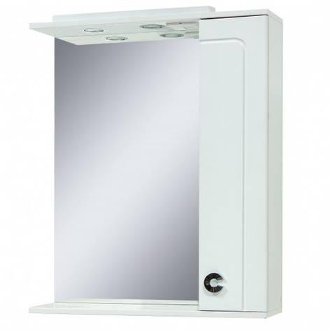 Дзеркало у ванну кімнату 70 см Сансервис Eliza ДЗ Eliza-70 R білий, фото 2