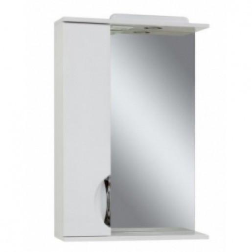Дзеркало у ванну кімнату 55 см білого кольору Сансервис Laura ДЗ Laura-56 білий L