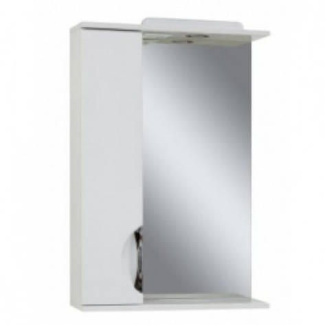 Дзеркало у ванну кімнату 55 см білого кольору Сансервис Laura ДЗ Laura-56 білий L, фото 2