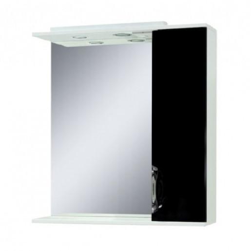 Недороге дзеркало у ванну кімнату 75 см Сансервис Laura ДЗ Laura-75 чорний R
