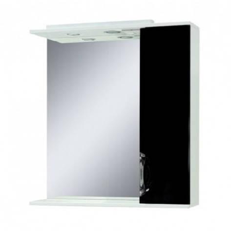 Недороге дзеркало у ванну кімнату 75 см Сансервис Laura ДЗ Laura-75 чорний R, фото 2