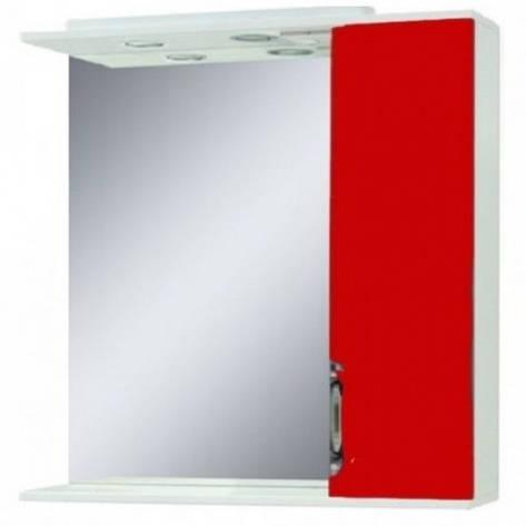 Дзеркало у ванну кімнату 75 см у два кольори Сансервис Laura ДЗ Laura-75 червоний R, фото 2