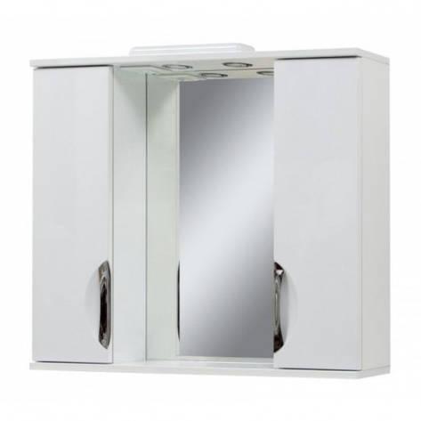 Дзеркало у ванну кімнату 85 см Сансервис Laura ДЗ Laura-85 білий, фото 2