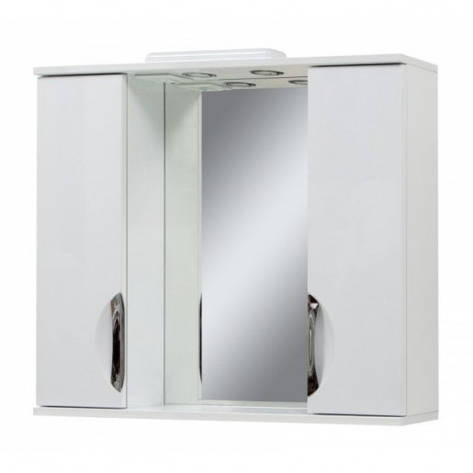Зеркало в ванную комнату 85 см Сансервис Laura ДЗ Laura-85 белый, фото 2