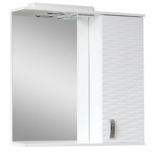 Дзеркало у ванну кімнату 70 см з 3д декором Сансервис 3Д 3D - 70 R білий