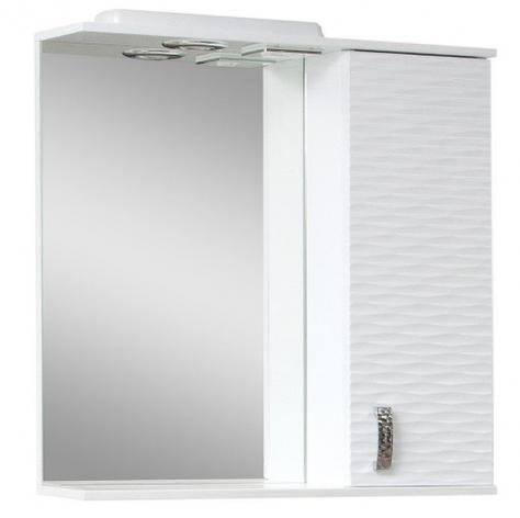 Дзеркало у ванну кімнату 70 см з 3д декором Сансервис 3Д 3D - 70 R білий, фото 2