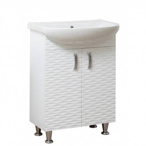 Тумба з раковиною в ванну 50 см Сансервис 3D 3D - Arteco 50 Білий, фото 2