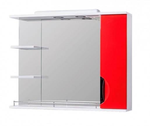 Зеркало в ванную 85 см с распашными дверцами Квел ГРАЦИЯ Z2 Грация 85R Красный, фото 2