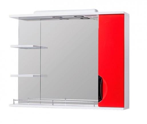 Зеркало в ванную 85 см с распашными дверцами Квел ГРАЦИЯ Z2 Грация 85R Красный