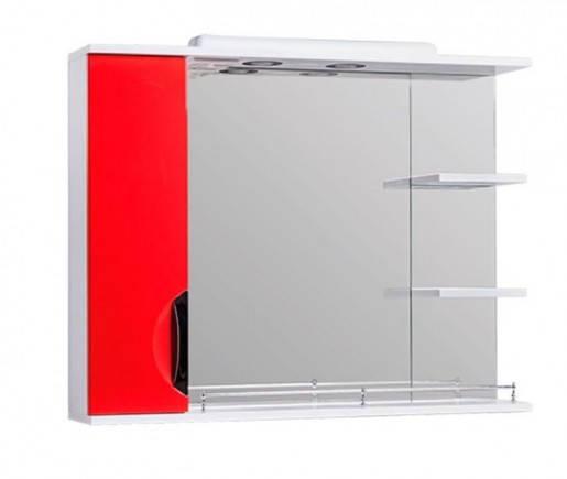 Дзеркало у ванну 85 см в сучасному стилі Квел ГРАЦІЯ Z2 Грація 85L Червоний, фото 2