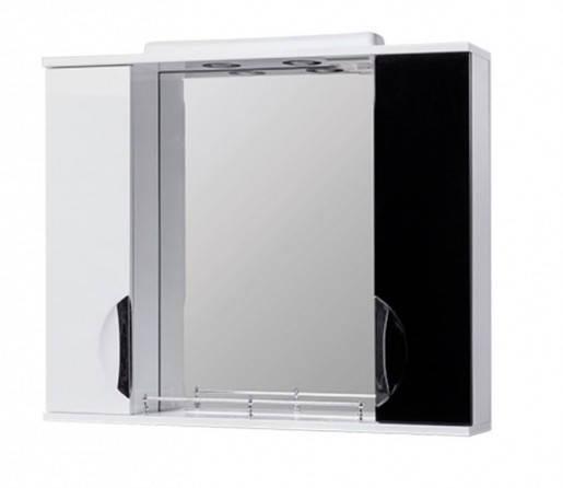 Дзеркало у ванну 75 см з накладними ручками КВЕЛ ГРАЦІЯ Z11 Грація 75 Чорний, фото 2