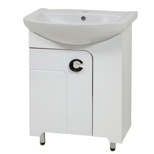 Тумба з раковиною у ванну кімнату 60 см підлогова Сансервис ELIZA ТН Eliza Libra 60 білий