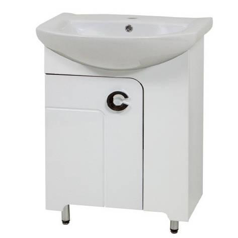 Тумба з раковиною у ванну кімнату 60 см підлогова Сансервис ELIZA ТН Eliza Libra 60 білий, фото 2