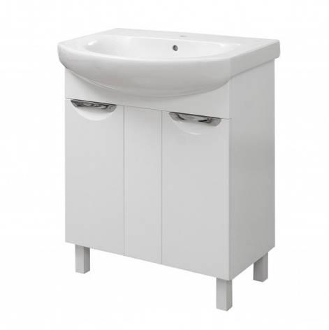Тумба з раковиною в ванну 70 см глянсова Сансервис ЛАУРА ТН Laura 70 Лотос білий, фото 2