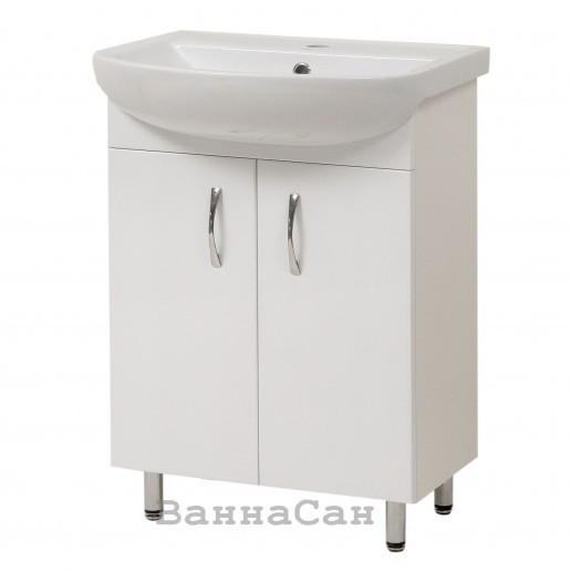 Тумба з раковиною в ванну 55 см Сансервис ЕКОНОМ ТН Економ Arteco 55