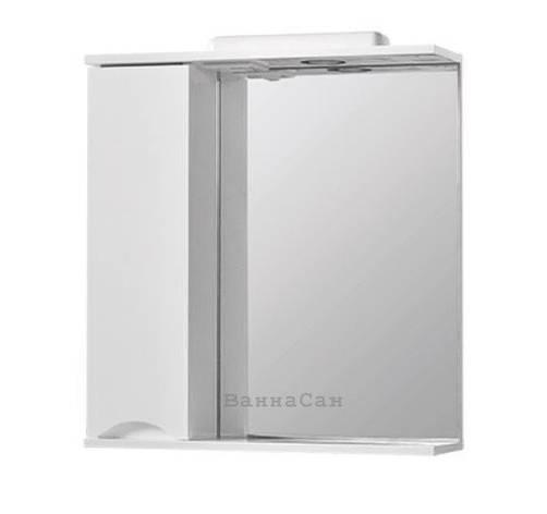 Зеркало в ванную 60 см с открытой полкой КВЕЛ СМАЙЛ Z1 Смайл Левое 60, фото 2