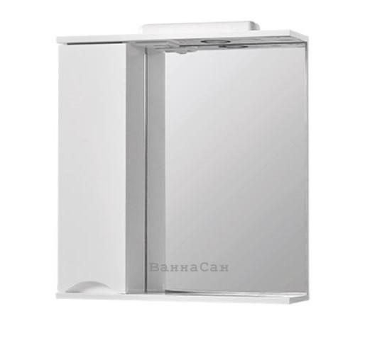 Зеркало в ванную 60 см с открытой полкой КВЕЛ СМАЙЛ Z1 Смайл Левое 60