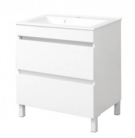 Тумба з раковиною у ванну кімнату 60 см Сансервис ЕЛІТ-Н ТН Еліт-N Еліт -60 білий, фото 2