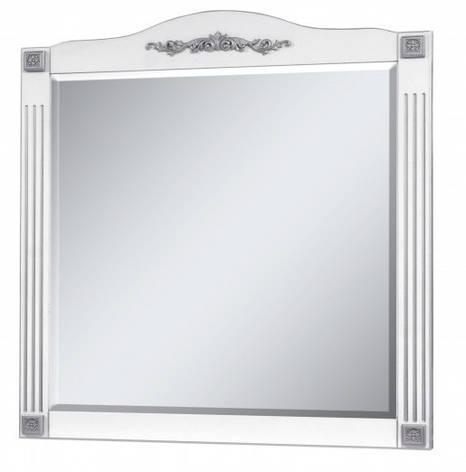 Зеркало в ванную комнату 95 см в стиле прованс Сансервис РОМАНС ДЗ Romance 100 silver, фото 2