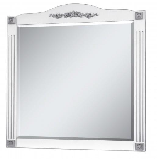Зеркало в ванную комнату 95 см в стиле прованс Сансервис РОМАНС ДЗ Romance 100 silver