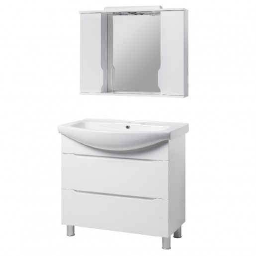Комплект мебели в ванную комнату 95 см в современном стиле КВЕЛЛ Висла 23340-22211