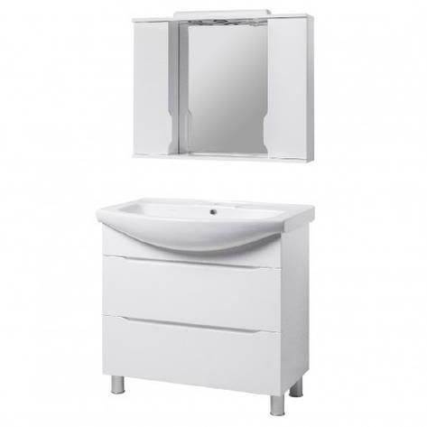 Комплект мебели в ванную комнату 95 см в современном стиле КВЕЛЛ Висла 23340-22211, фото 2