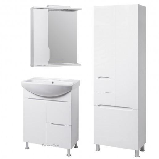 Комплект мебели для ванной комнаты 65 см с пеналом 60 см КВЕЛЛ Висла 19511-18913-22212