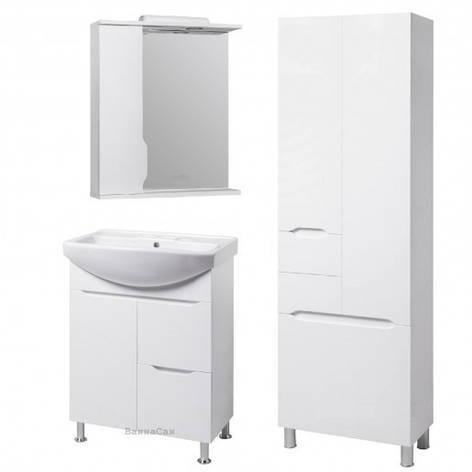 Комплект мебели для ванной комнаты 65 см с пеналом 60 см КВЕЛЛ Висла 19511-18913-22212, фото 2