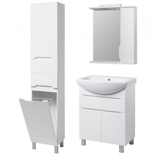 Комплект меблів для ванної кімнати 65 см з напівкруглою раковиною КВЕЛЛ Вісла 23278-18961-22367