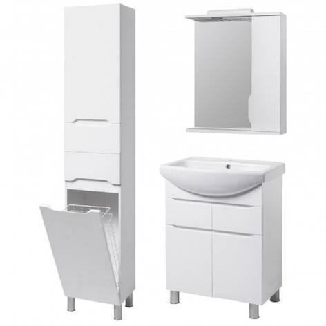 Комплект меблів для ванної кімнати 65 см з напівкруглою раковиною КВЕЛЛ Вісла 23278-18961-22367, фото 2