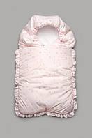 Конверт зимний для новорожденного розовый Модный карапуз