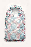 Конверт-одеяло зимний серый и розовый Модный карапуз