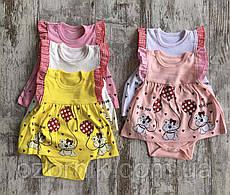 Оптом Боди-Платье для Малышей  1-3-6-9м. Турция