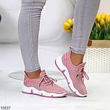 Розовые легкие дышащие тканевые текстильные женские кроссовки 2021, фото 7