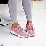 Розовые легкие дышащие тканевые текстильные женские кроссовки 2021, фото 9