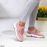 Розовые легкие дышащие тканевые текстильные женские кроссовки 2021, фото 10
