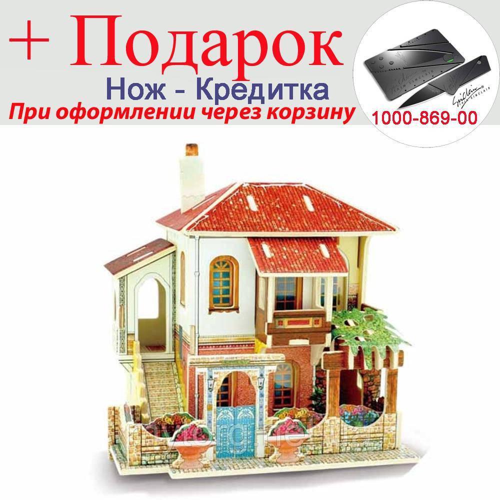 Ляльковий будиночок 3D пазл Diy дерев'яний Вілла
