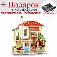Ляльковий будиночок 3D пазл Diy дерев'яний Вілла, фото 1