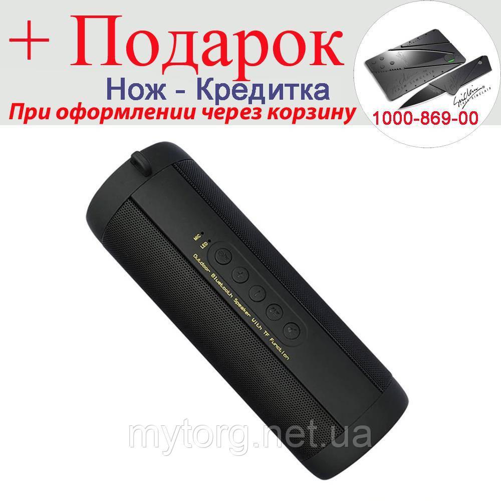 Динамик T2 Bluetooth водонепроницаемый TF карты FM Hi-Fi портативная колонка  Черный
