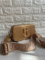 """Сумка Marc Jacobs Snapshot Gold """"Бежева/Золотава"""", фото 3"""